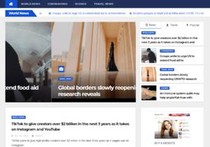Англоязычный сайт Eurasia News с наполнением