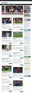 Автонаполняющийся сайт Мир Футбола